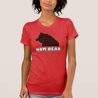 T - Shirt der Mamma-Bärn-der Rot-Gemusterte Mutter