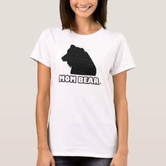 T - Shirt der Mamma-Bärn-der Schwarz-Gemusterte