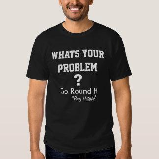 T - Shirt der Problem-Kerl-der motivierend Männer