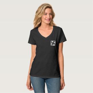 T - Shirt der V-Hals der Frauen