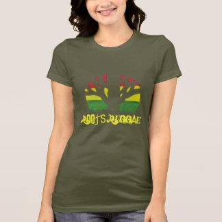 T-Shirt der Wurzel-Reggae-Damen-Brown
