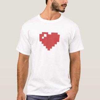 T-Shirt des Herz-8bit