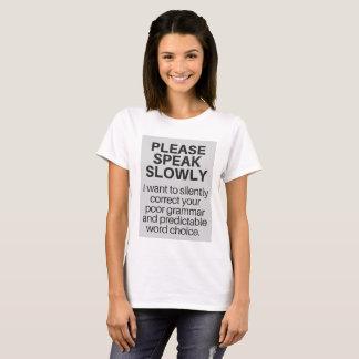 T - Shirt für eingebildete Verfasser überall