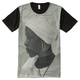 Teeshirt all over vintage black girl kaki clair