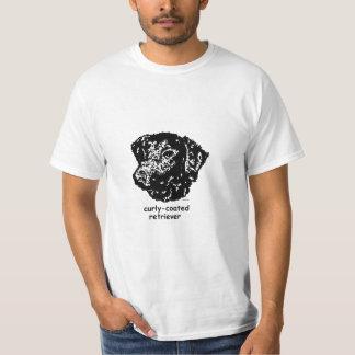 T - Shirt-Gelockt-Überzogener Retriever Shirts