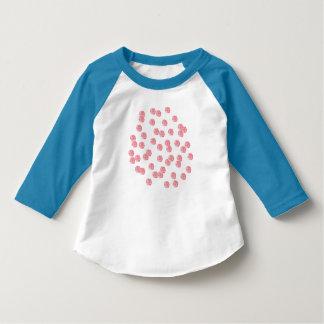 T - Shirt Hülse des Kleinkindes 3/4 mit roten