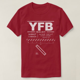 T-Shirt Iqaluit Flughafen-YFB