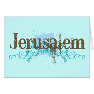 T - Shirt Jerusalems Israel Karte