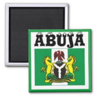 T - Shirt Karte NO1 Abuja, Nigerias und usw. Quadratischer Magnet