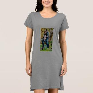 T - Shirt-Kleid der Frauen amerikanisches Kleider