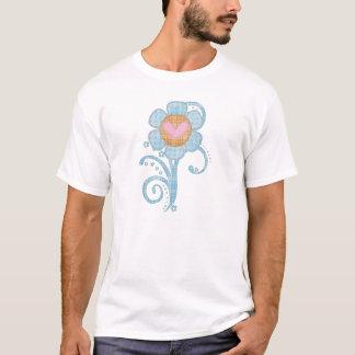 T - Shirt-Mädchen-Baby Tots die blaue Blume des T-Shirt