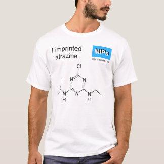 T - Shirt mit Atrazinschablonenmolekül