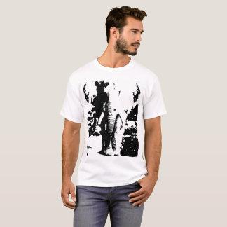 T - Shirt mit Schwarzweiss-Druckelefanten
