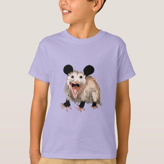 t-shirt mit süßem opossum