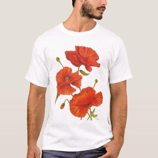 T - Shirt-Mohnblumen T-Shirt