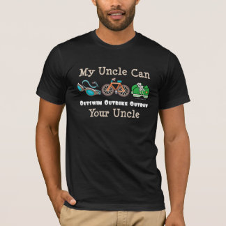 T-Shirt Onkel-Outswim Outbike Outrun Triathlon