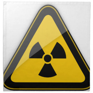 T-Shirt Radiation_Hazard_Warning_ Serviette