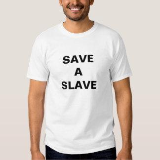 T - Shirt retten einen Sklaven