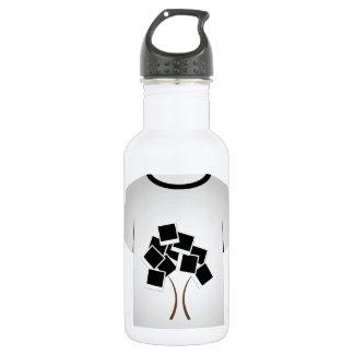 T-Shirt Schablonenbaum Trinkflasche