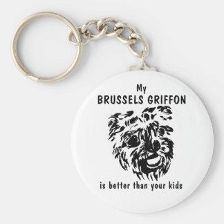 T - Shirt-Schlüsselkette Brüssels Griffon Schlüsselanhänger