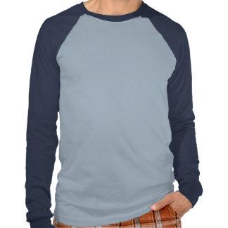 T - Shirt-Silber-Blaues Licht