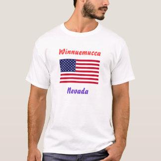 T - Shirt Whit USflag, Winnuemucca, Nevada