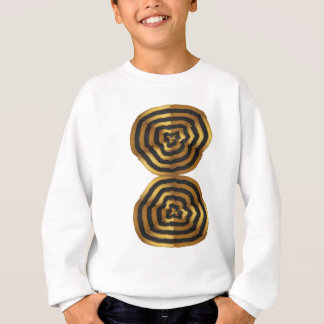 T - Shirtgrußaufkleber goldene Welle Sweatshirt