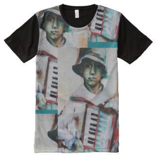 T - Shirtmann, Akkordeon T-Shirt Mit Bedruckbarer Vorderseite