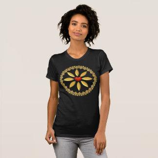 T - Shirts entworfen und VerzierenGold und rotes