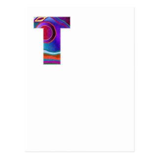 T-STÜCK ALPHA T Alphabet: Anfangsname Postkarte