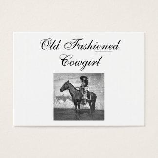 T-STÜCK altmodisches Cowgirl Visitenkarte
