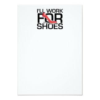 T-STÜCK Arbeit für Schuhe 12,7 X 17,8 Cm Einladungskarte