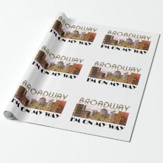 T-STÜCK Broadway-Stern Einpackpapier