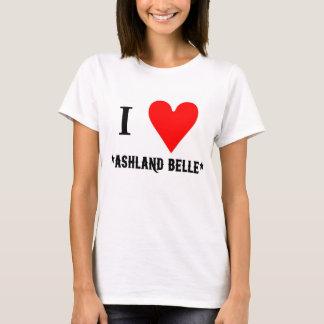 T-Stück der Damen-I des Herz-AB T-Shirt