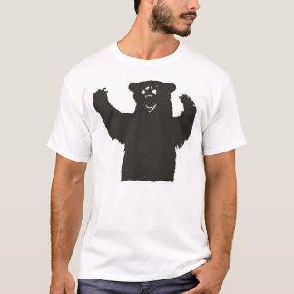 T-Stück des schwarzen Bären T-Shirt
