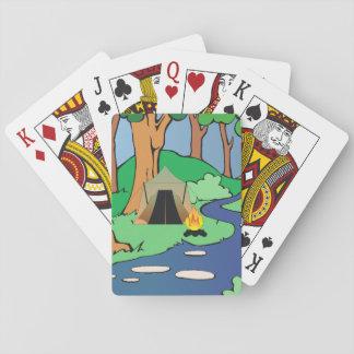 T-STÜCK draußen gesprungen Spielkarten