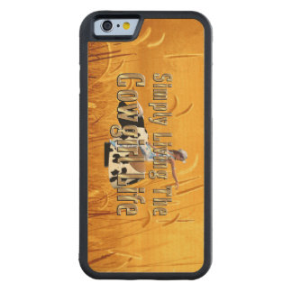 T-STÜCK einfach lebendes Cowgirl-Leben Bumper iPhone 6 Hülle Ahorn