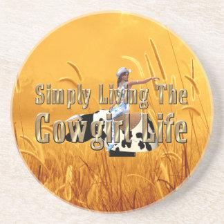 T-STÜCK einfach lebendes Cowgirl-Leben Getränkeuntersetzer
