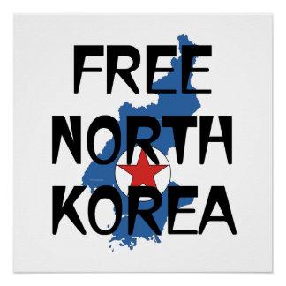 T-STÜCK freies Nordkorea Poster