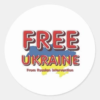 T-STÜCK geben Ukraine frei Runder Aufkleber