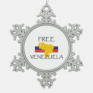 T-STÜCK geben Venezuela frei Schneeflocken Zinn-Ornament