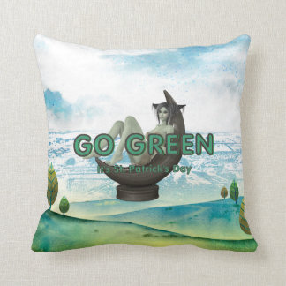 T-STÜCK gehen St Patrick Tag grünen Kissen