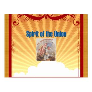 T-STÜCK Geist der Gewerkschaft Postkarte