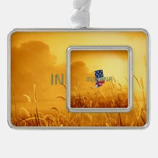 T-STÜCK Indiana-Patriot Rahmen-Ornament Silber