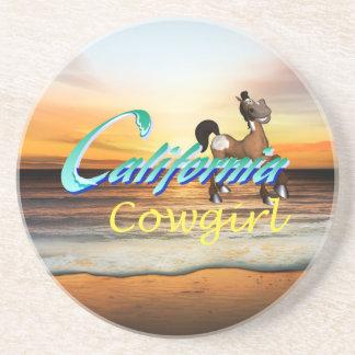 T-STÜCK Kalifornien-Cowgirl Getränkeuntersetzer