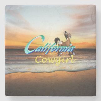 T-STÜCK Kalifornien-Cowgirl Steinuntersetzer