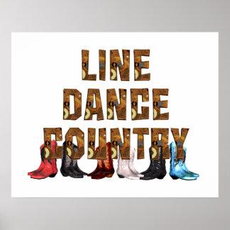 T-STÜCK Land-Linie Tanz Plakatdruck