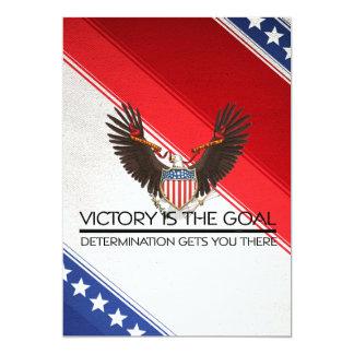 T-STÜCK politischer Sieg-Slogan 12,7 X 17,8 Cm Einladungskarte