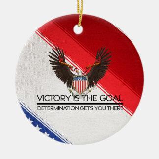 T-STÜCK politischer Sieg-Slogan Keramik Ornament