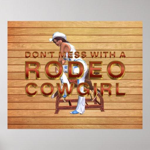 T-STÜCK Rodeo-Cowgirl-Slogan Plakate